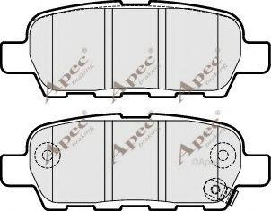 APEC braking PAD1826 Комплект тормозных колодок, дисковый тормоз для NISSAN QASHQAI (Ниссан Кашкай)