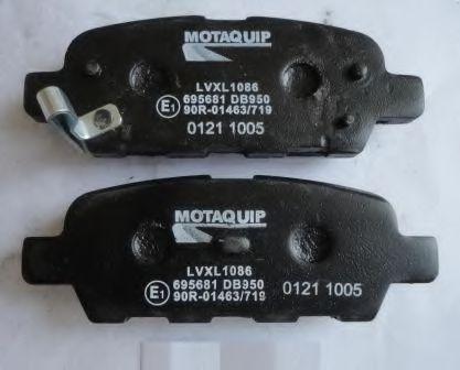 MOTAQUIP LVXL1086 Комплект тормозных колодок, дисковый тормоз для NISSAN QASHQAI (Ниссан Кашкай)