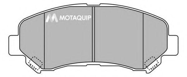 MOTAQUIP LVXL1360 Комплект тормозных колодок, дисковый тормоз для NISSAN QASHQAI (Ниссан Кашкай)