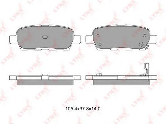 LYNXauto BD-5706 Комплект тормозных колодок, дисковый тормоз для NISSAN QASHQAI (Ниссан Кашкай)