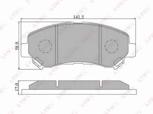LYNXauto BD-5711 Комплект тормозных колодок, дисковый тормоз для NISSAN QASHQAI (Ниссан Кашкай)