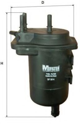 MFILTER DF 3514 Топливный фильтр для NISSAN JUKE (Ниссан Джук)
