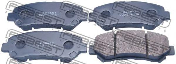 FEBEST 0201-T31F Комплект тормозных колодок, дисковый тормоз для NISSAN QASHQAI (Ниссан Кашкай)