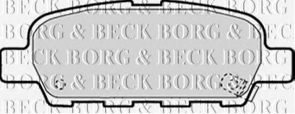 BORG & BECK BBP1839 Комплект тормозных колодок, дисковый тормоз для NISSAN QASHQAI (Ниссан Кашкай)