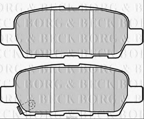 BORG & BECK BBP2326 Комплект тормозных колодок, дисковый тормоз для NISSAN QASHQAI (Ниссан Кашкай)