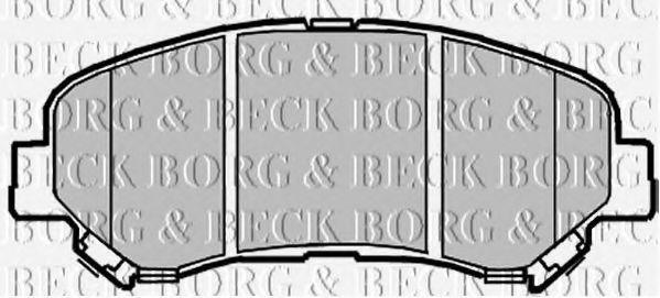 BORG & BECK BBP2084 Комплект тормозных колодок, дисковый тормоз для NISSAN QASHQAI (Ниссан Кашкай)