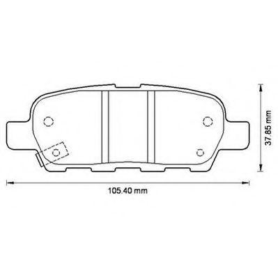 JURID 572501J Комплект тормозных колодок, дисковый тормоз для NISSAN QASHQAI (Ниссан Кашкай)