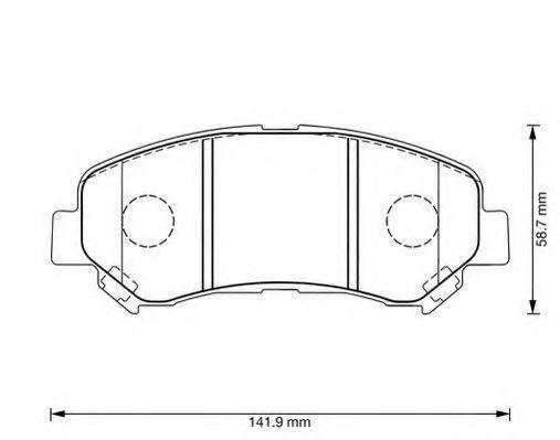 JURID 573379J Комплект тормозных колодок, дисковый тормоз для NISSAN QASHQAI (Ниссан Кашкай)