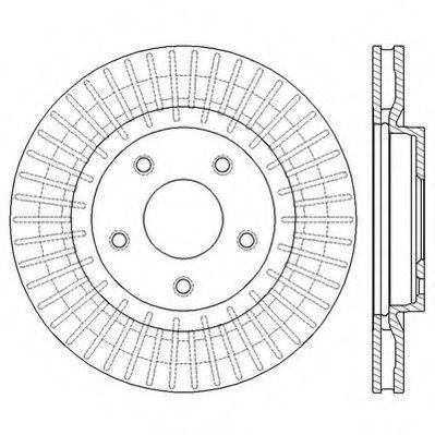 JURID 562578JC Тормозной диск для NISSAN QASHQAI (Ниссан Кашкай)