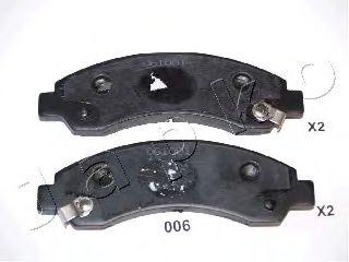 JAPKO 50006 Комплект тормозных колодок, дисковый тормоз для GREAT WALL HOVER H5 (Грейтвол Ховер н5)