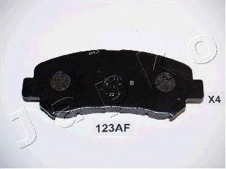 JAPKO 50123 Комплект тормозных колодок, дисковый тормоз для NISSAN QASHQAI (Ниссан Кашкай)