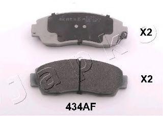JAPKO 50434 Комплект тормозных колодок, дисковый тормоз для GREAT WALL HOVER H6 (Грейтвол Хоvэр х6)