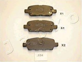 JAPKO 51154 Комплект тормозных колодок, дисковый тормоз для NISSAN QASHQAI (Ниссан Кашкай)