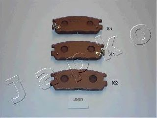 JAPKO 51999 Комплект тормозных колодок, дисковый тормоз для GREAT WALL HOVER H5 (Грейтвол Ховер н5)