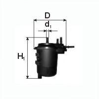 PZL SEDZISZOW FPP12 Топливный фильтр для NISSAN JUKE (Ниссан Джук)