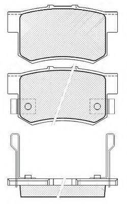 FIT FP0537 Комплект тормозных колодок, дисковый тормоз для GREAT WALL HOVER H6 (Грейтвол Хоvэр х6)