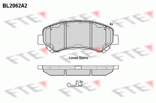 FTE BL2062A2 Комплект тормозных колодок, дисковый тормоз для NISSAN QASHQAI (Ниссан Кашкай)
