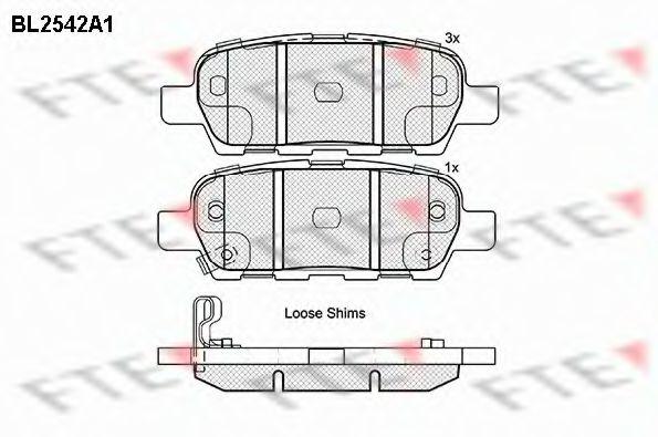 FTE BL2542A1 Комплект тормозных колодок, дисковый тормоз для NISSAN QASHQAI (Ниссан Кашкай)