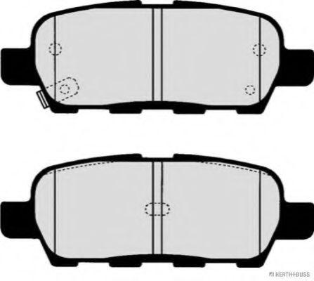 HERTH BUSS JAKOPARTS J3611044 Комплект тормозных колодок, дисковый тормоз задний мост для NISSAN QASHQAI (Ниссан Кашкай)