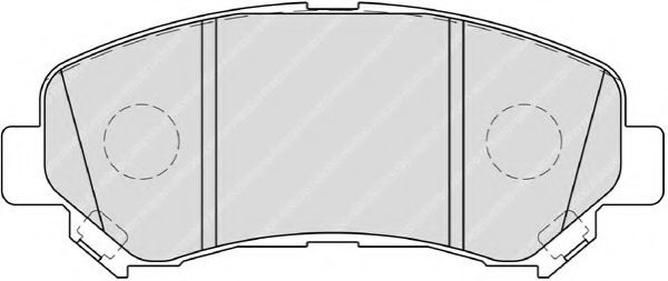 FERODO FDB4051 Комплект тормозных колодок, дисковый тормоз для NISSAN QASHQAI (Ниссан Кашкай)
