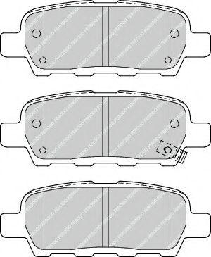 FERODO FDB4324 Комплект тормозных колодок, дисковый тормоз для NISSAN QASHQAI (Ниссан Кашкай)