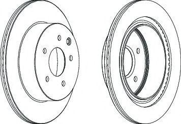 FERODO DDF1579 Тормозной диск для NISSAN QASHQAI (Ниссан Кашкай)