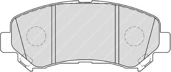 FERODO FSL4051 Комплект тормозных колодок, дисковый тормоз для NISSAN QASHQAI (Ниссан Кашкай)