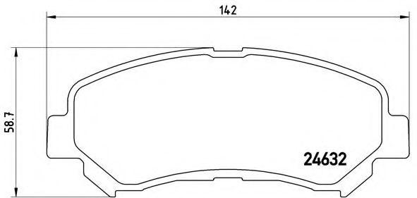 BREMBO P 56 062 Комплект тормозных колодок, дисковый тормоз для NISSAN QASHQAI (Ниссан Кашкай)