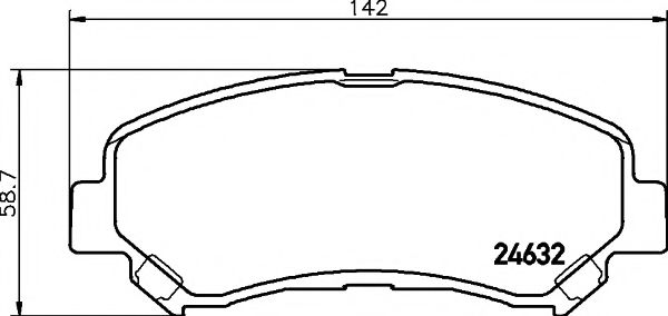 MINTEX MDB2938 Комплект тормозных колодок, дисковый тормоз для NISSAN QASHQAI (Ниссан Кашкай)