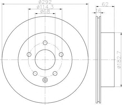 MINTEX MDC1786 Тормозной диск для NISSAN QASHQAI (Ниссан Кашкай)