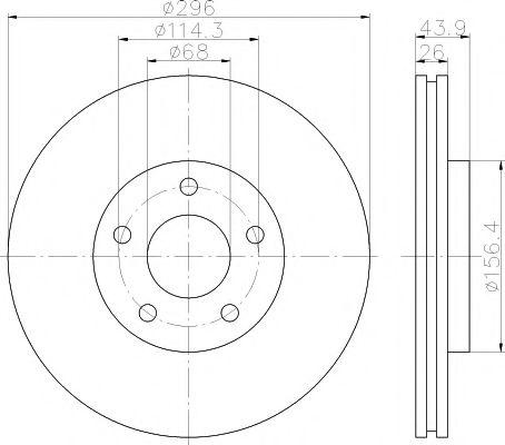 MINTEX MDC1905 Тормозной диск для NISSAN QASHQAI (Ниссан Кашкай)