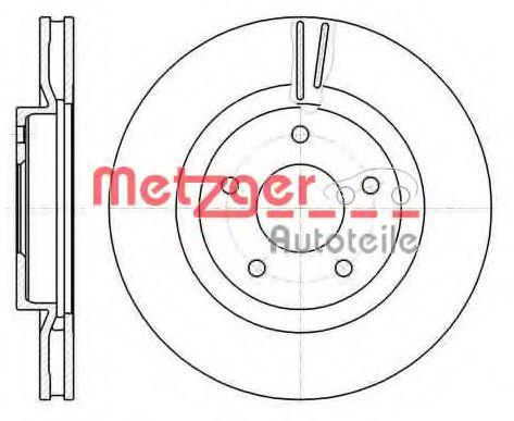 METZGER 61087.10 Тормозной диск для NISSAN QASHQAI (Ниссан Кашкай)
