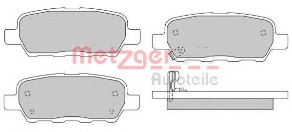 METZGER 1170079 Комплект тормозных колодок, дисковый тормоз для NISSAN QASHQAI (Ниссан Кашкай)