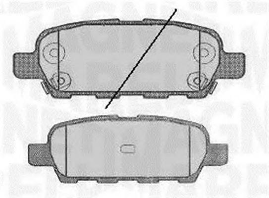 MAGNETI MARELLI 363916060350 Комплект тормозных колодок, дисковый тормоз для NISSAN QASHQAI (Ниссан Кашкай)